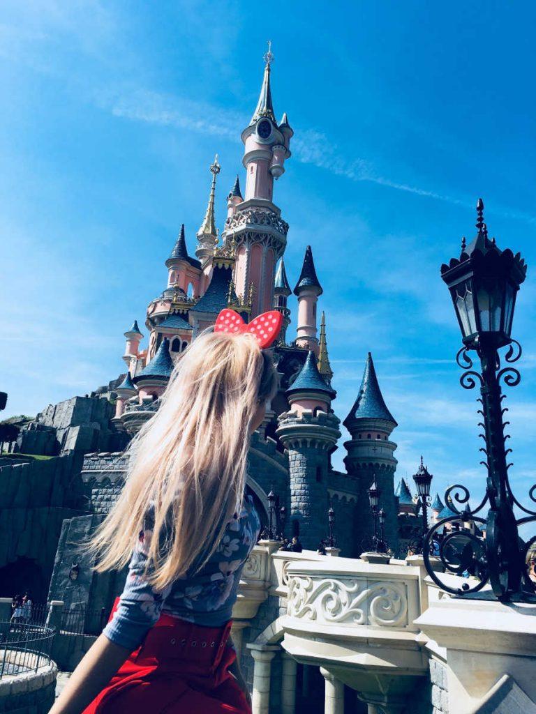 Disneyland tourist by castle