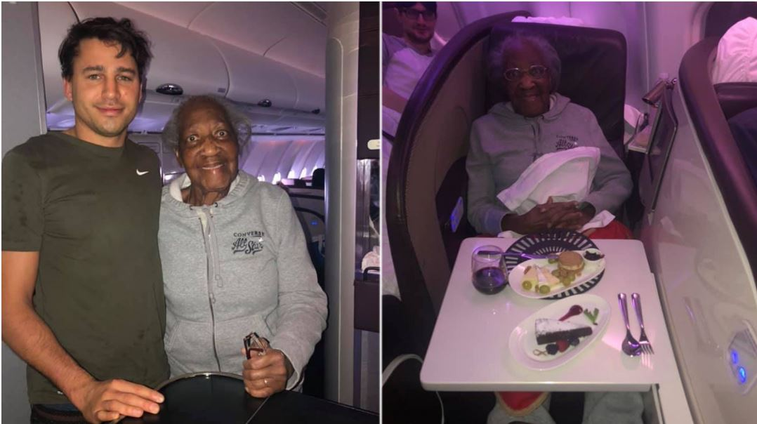 Man Gives First Class Seat to 88-year-old Woman To Makes Her 'dream' Come True