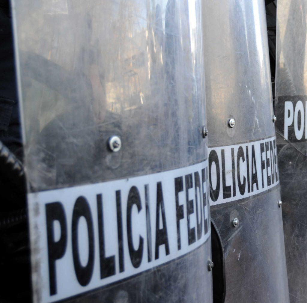 Mexico police shields