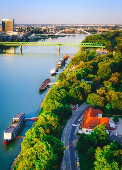 Bratislava Danube river