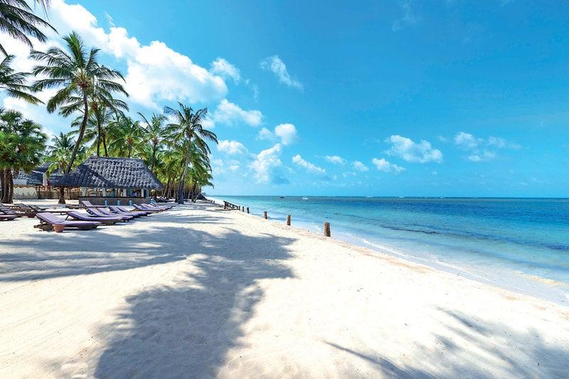 White sand beaches of Malindi Kenya where the man was staying