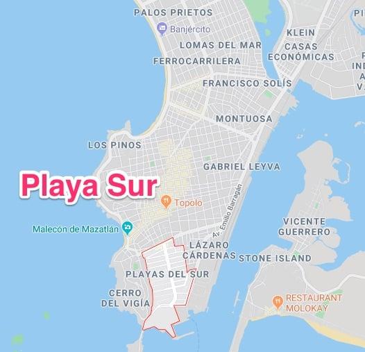 Playa Sur neighborhood in mazatlan - popular with expats