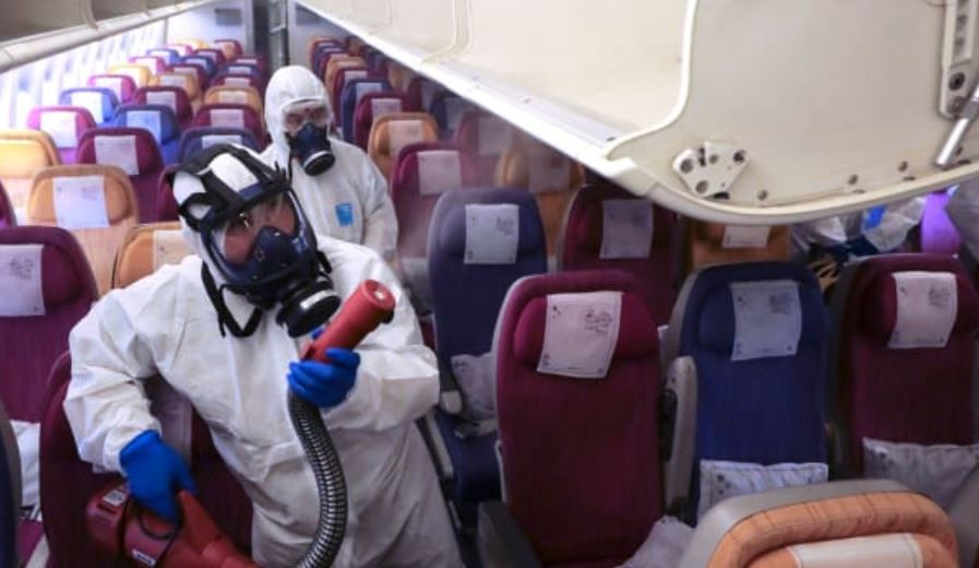 airlines prevent corona virus no hot meals no blankets