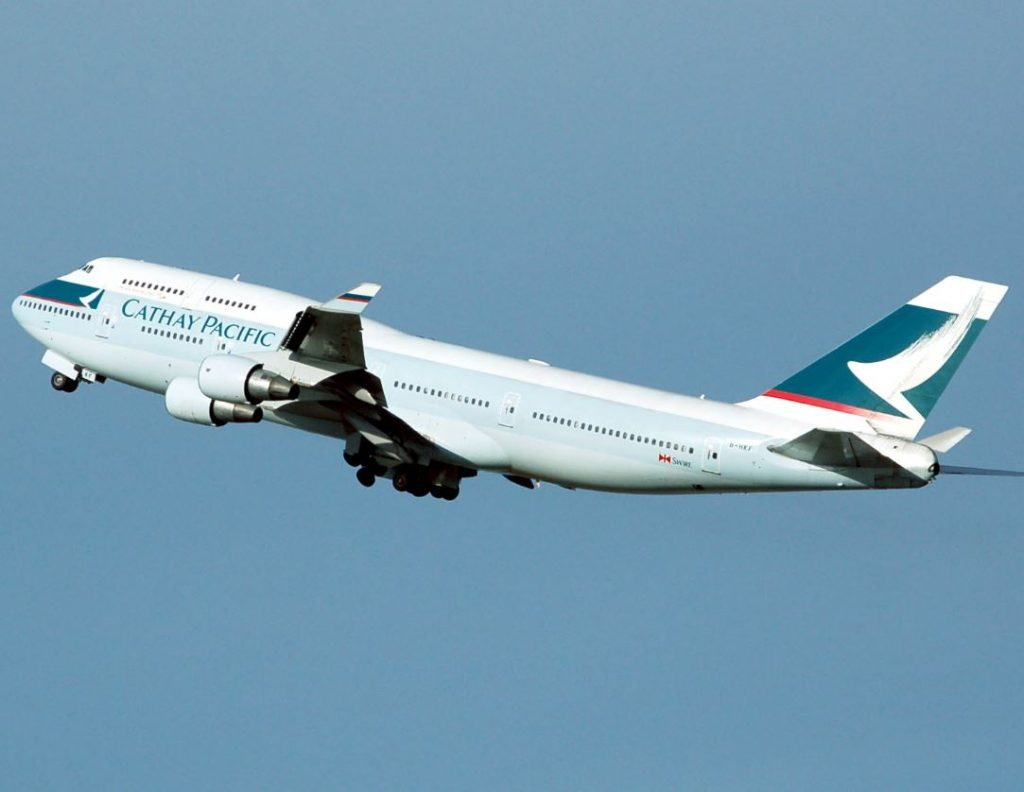 cathay paciific plane