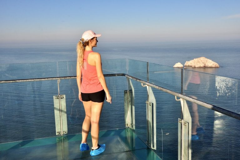 glass bridge at el faro - mazatlan cruise port stop