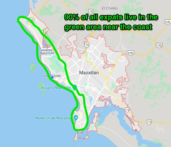 where the expats live in mazatlan