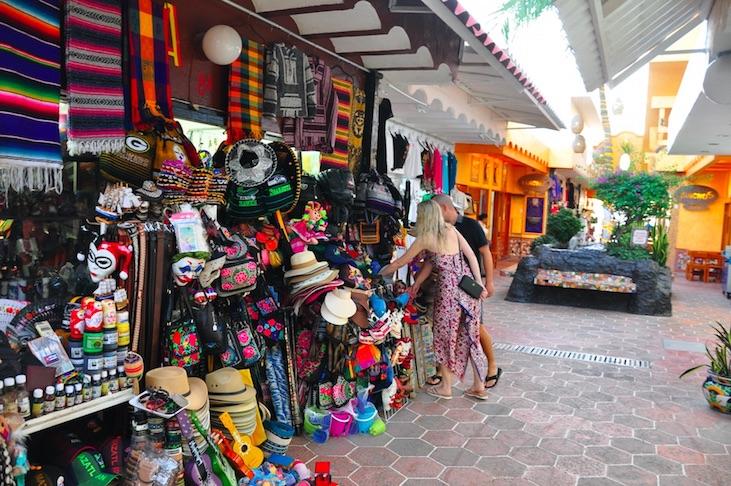 Shop n the golden zone on a cruise stop in mazatlan