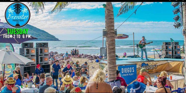 Beach party in mazatlan