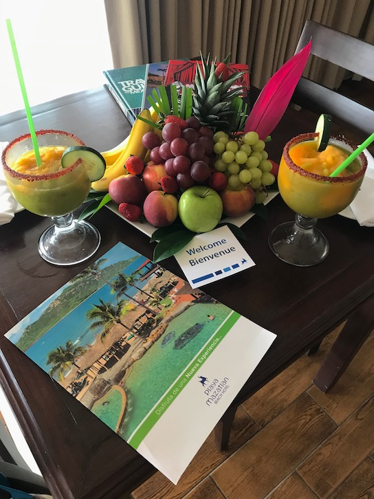 check in at hotel playa mazatlan with welcome drink