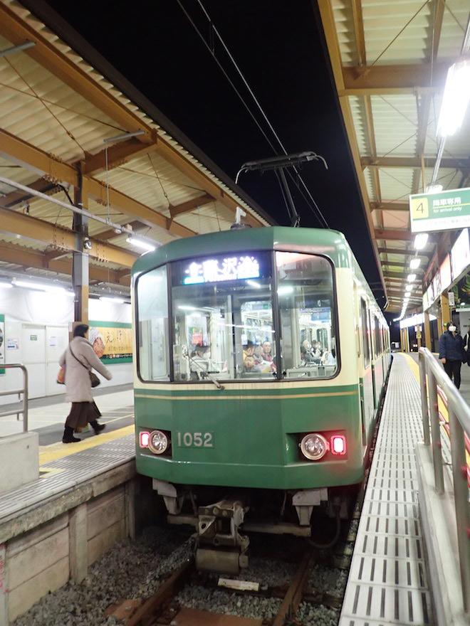train on the Enoshima line