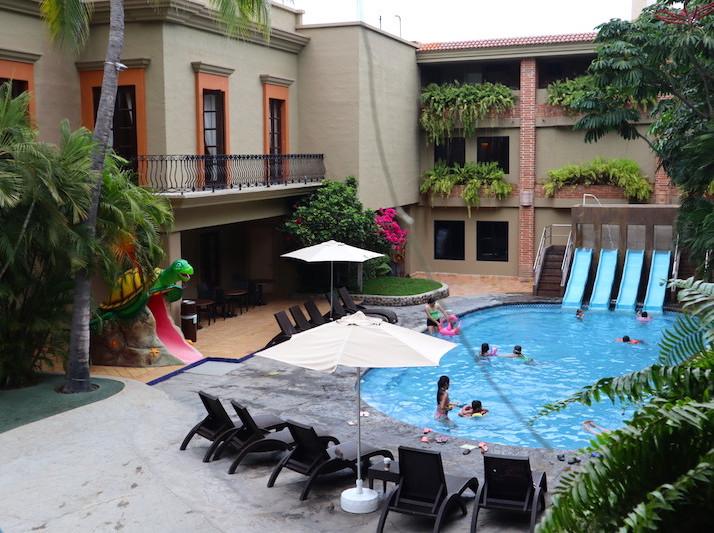 water slides for kids at the hotel playa mazatlan
