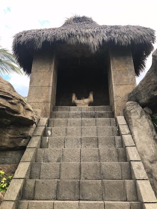 hidden mayan temple at the hotel playa mazatlan