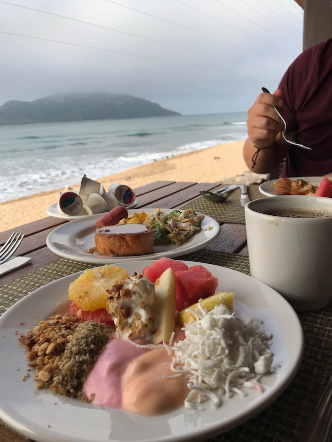 breakfast at the beach front buffet