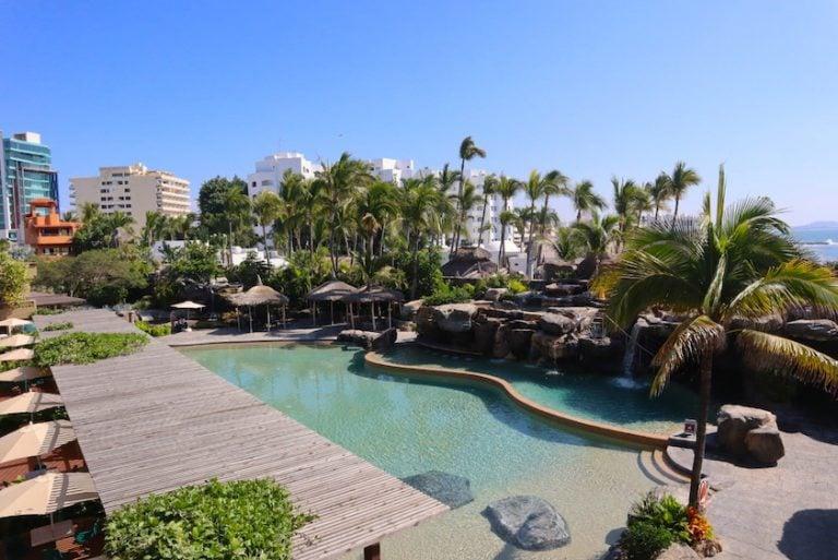 view from the deluxe room playa mazatlan hotel