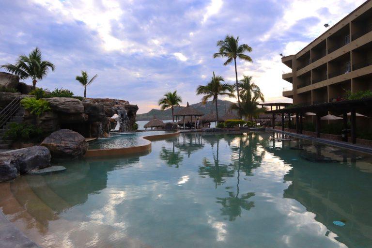 beach front pool at hotel playa mazatlan