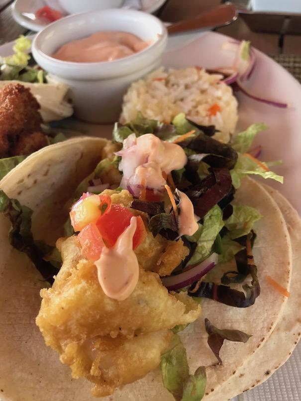 amazing shrimp tacos at playa mazatlan