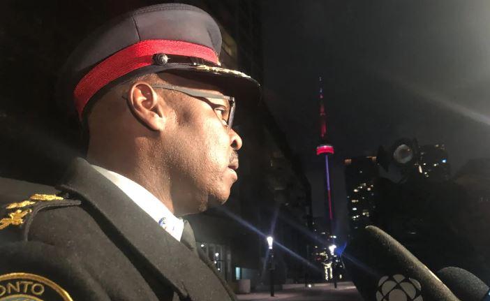 toronoto police chief speaks to reporters