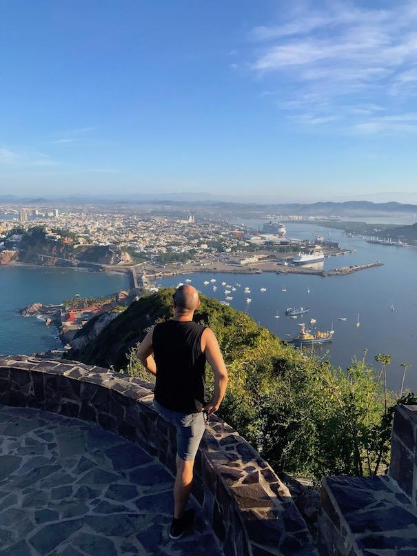 Trevor Kucheran at the top of El Faro in Mazatlan