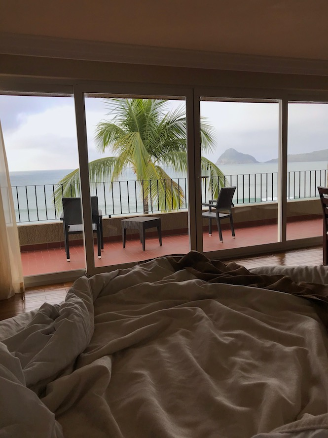 view form bed deluxe room at playa mazatlan