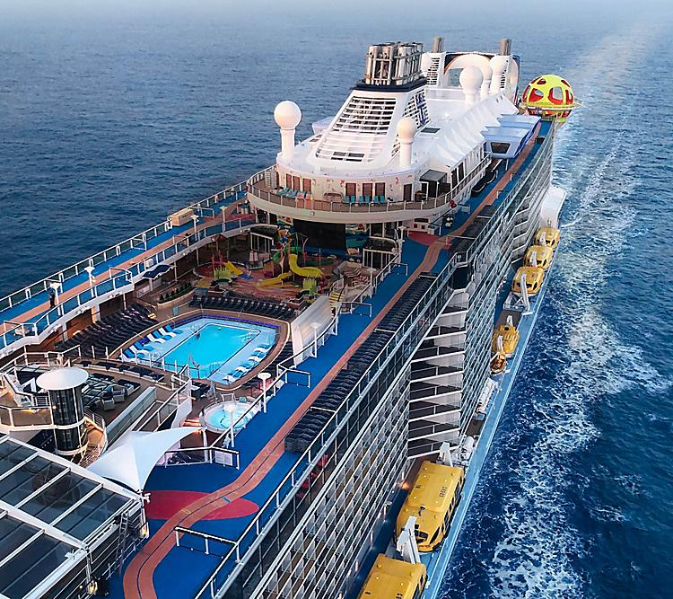 Royal Caribbean ship deck with pool