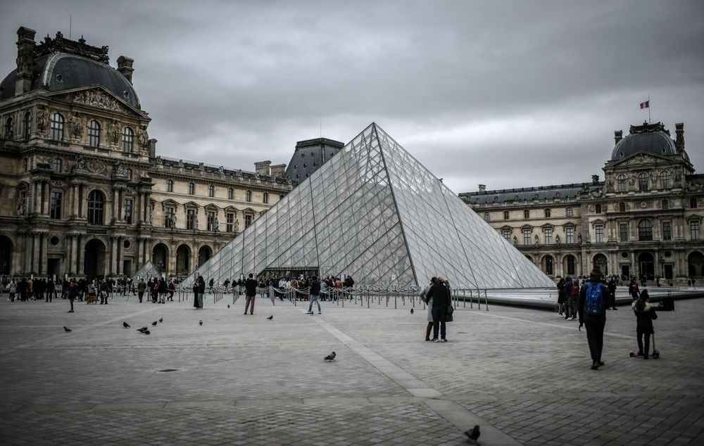 The Louvre museum in Paris has remained shut amid concerns over France's coronavirus outbreak.