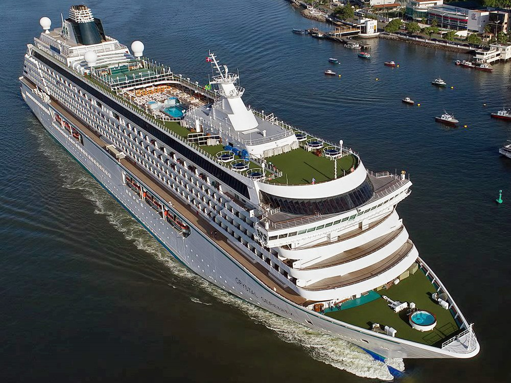 crystal cruise lines suspends service