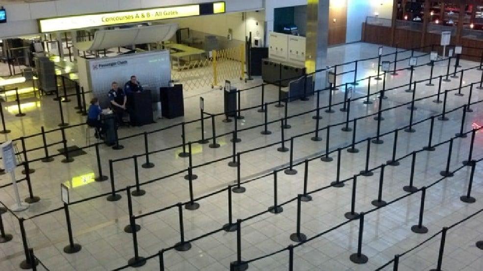 empty airport line ups
