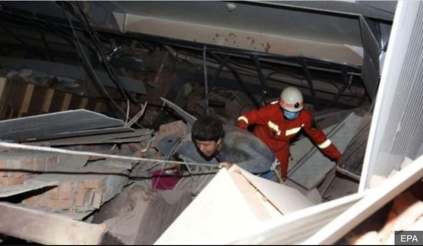 hotel collapse rescue in china