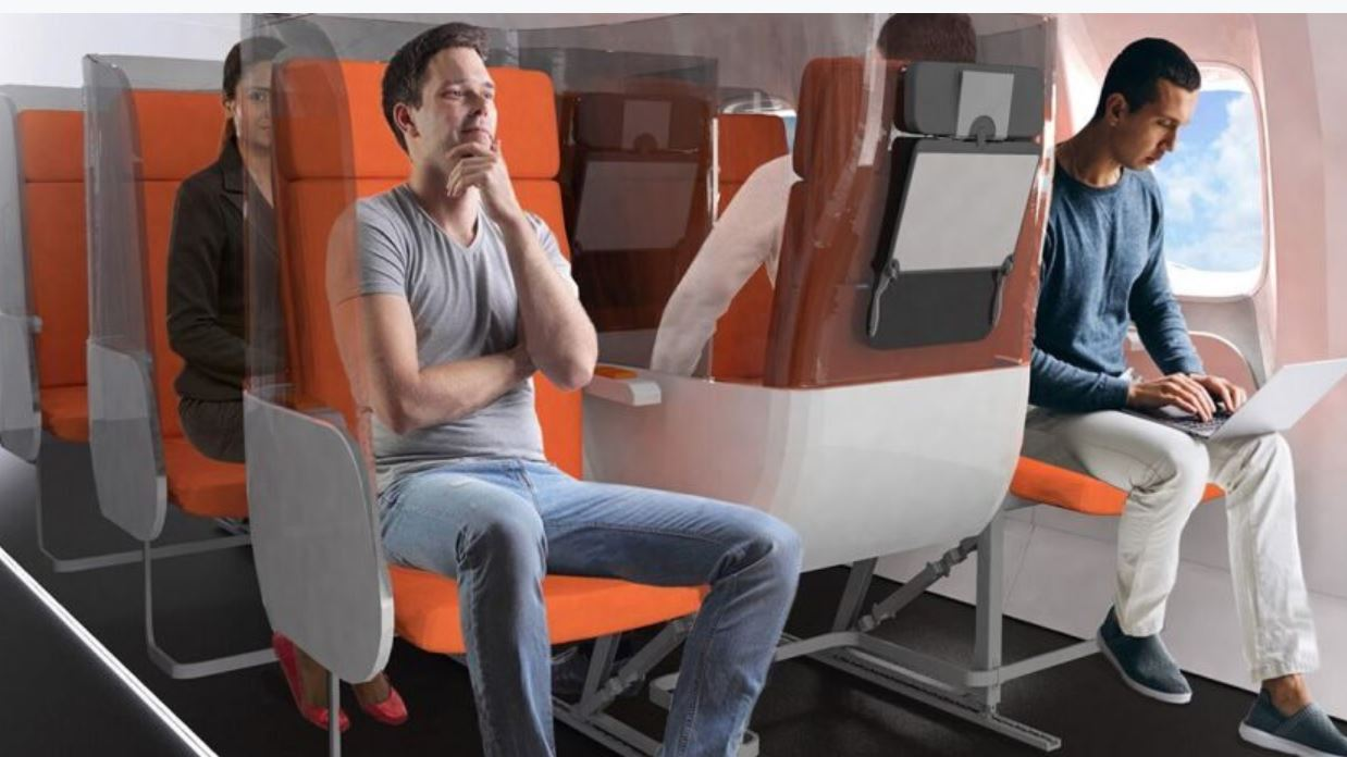 Design Firm Proposes New Airplane Seating To Help With Distancing