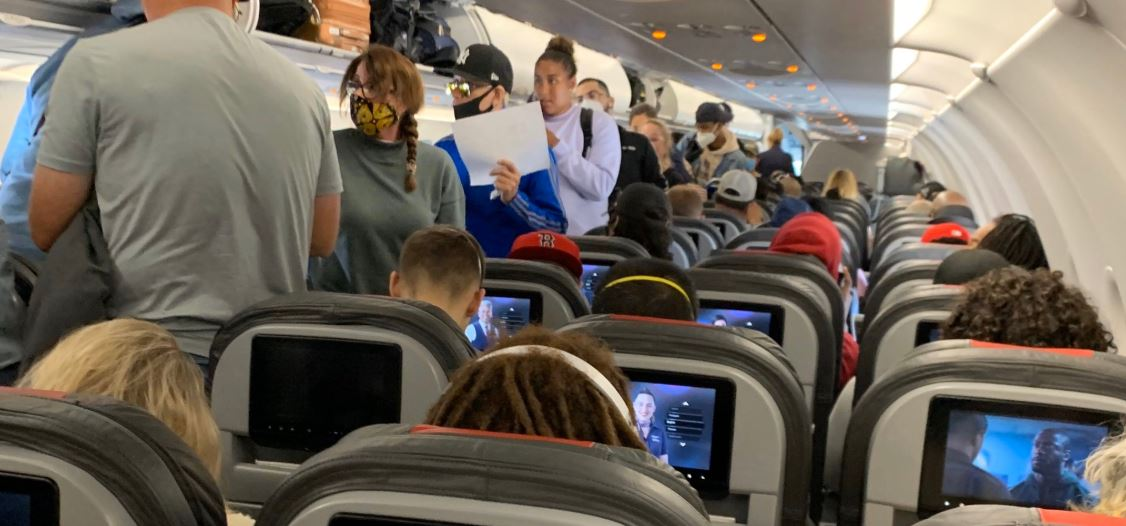 Outrage On Packed U.S. Flight Full Of Passengers Not Wearing Masks