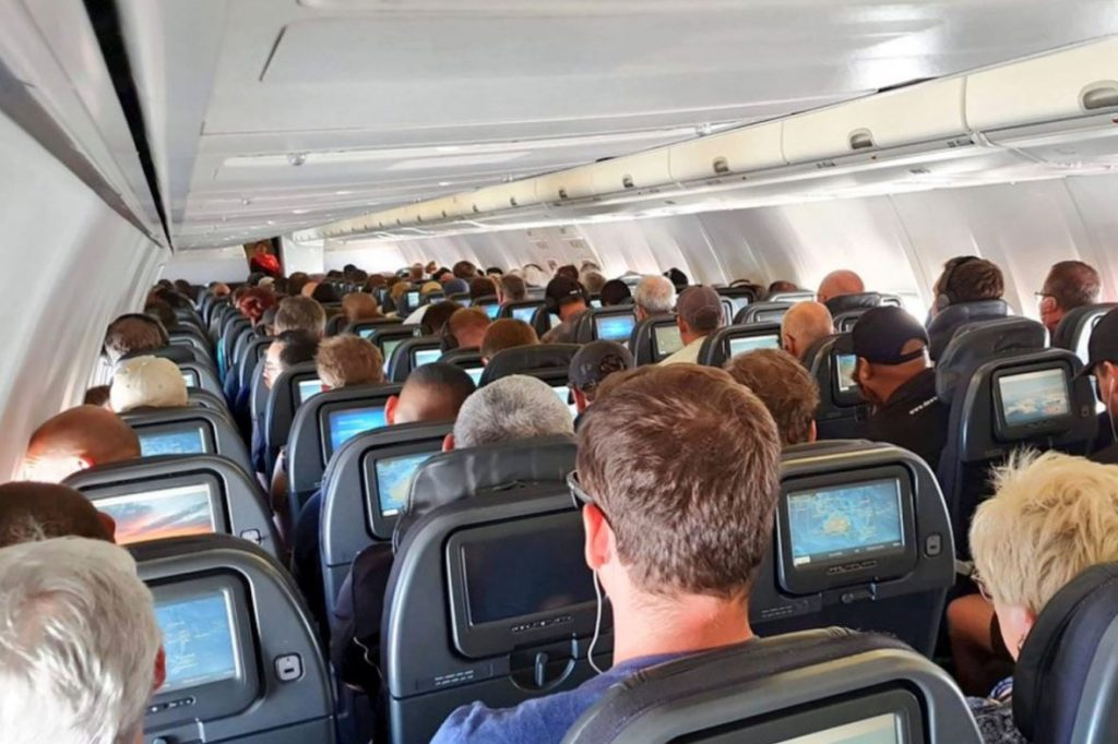 Planes may not be packed like this for a long time