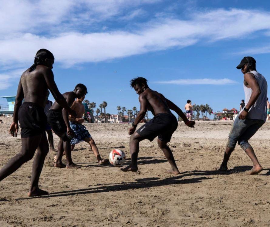 Soccer on Beach
