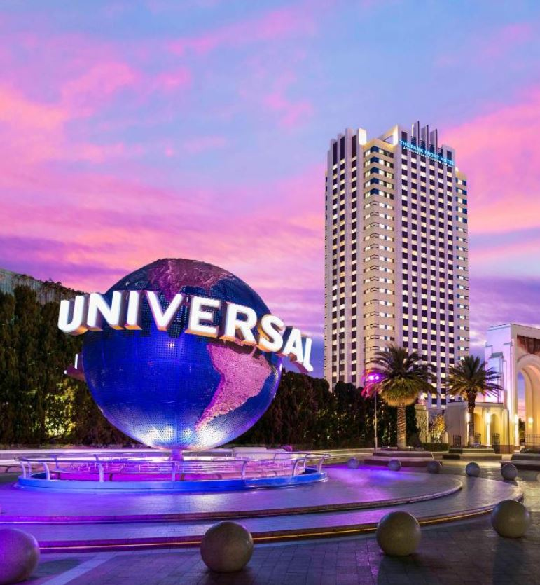 Universal studios theme parks closed