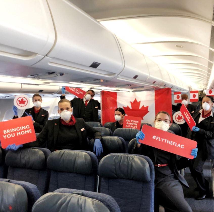 air canada face mask air travel