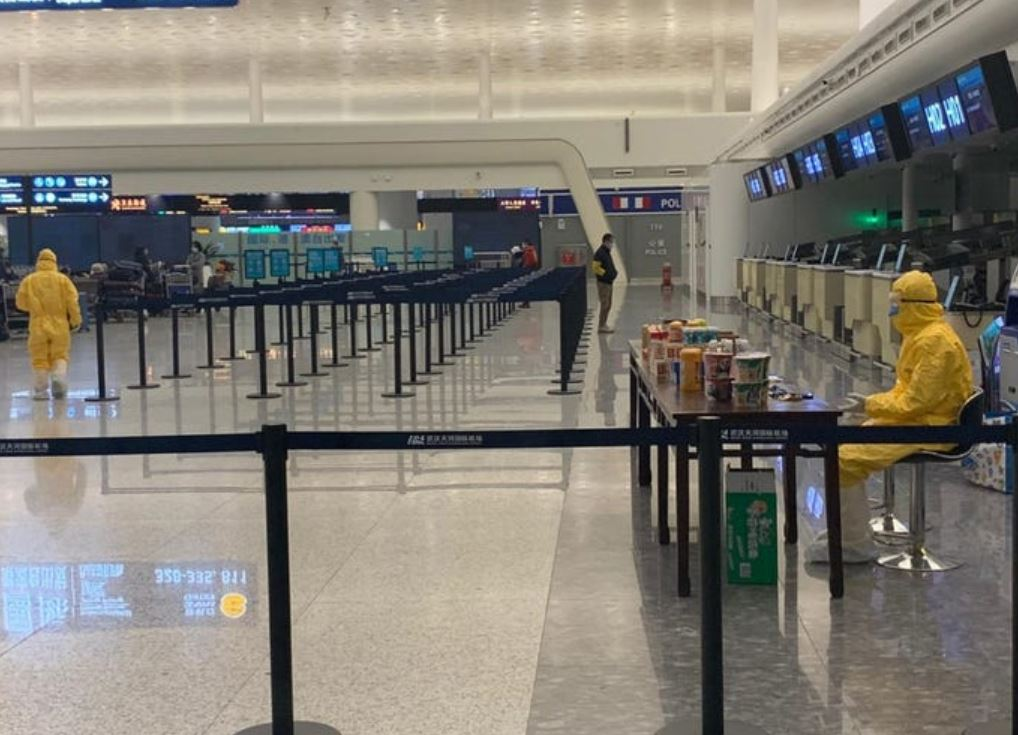 airports are abandoned due to restrictions