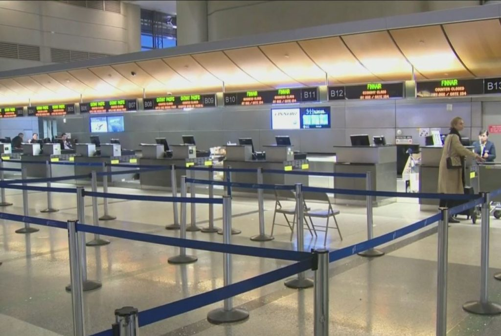empty airport lax