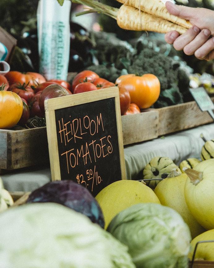 visit a farmers market - staycation ideas