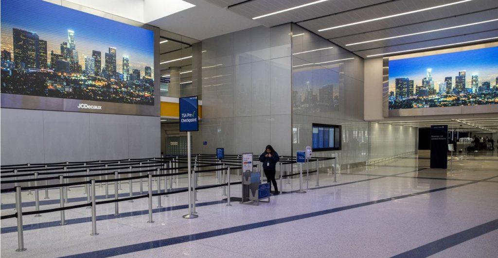 los angeles air travel biggest drop in history
