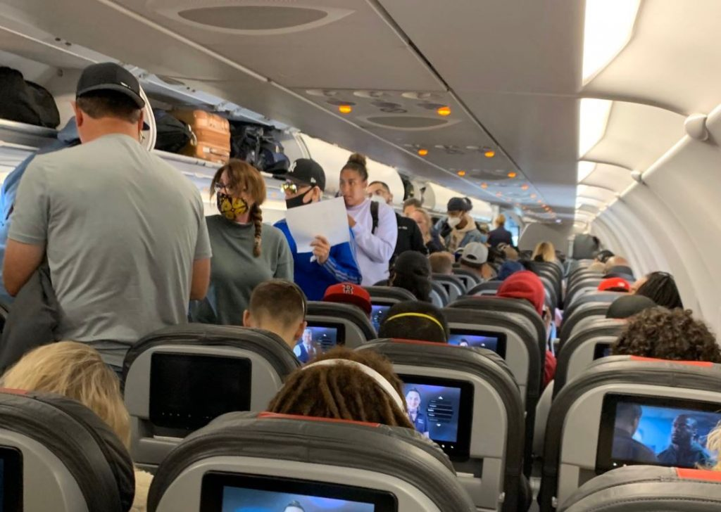 packed plane