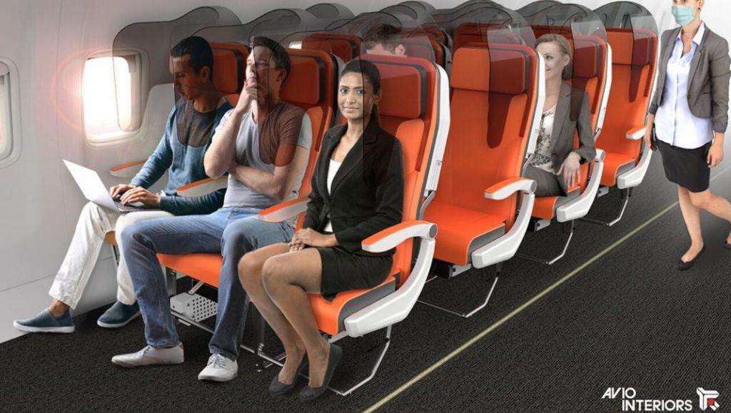 plexiglass between seats