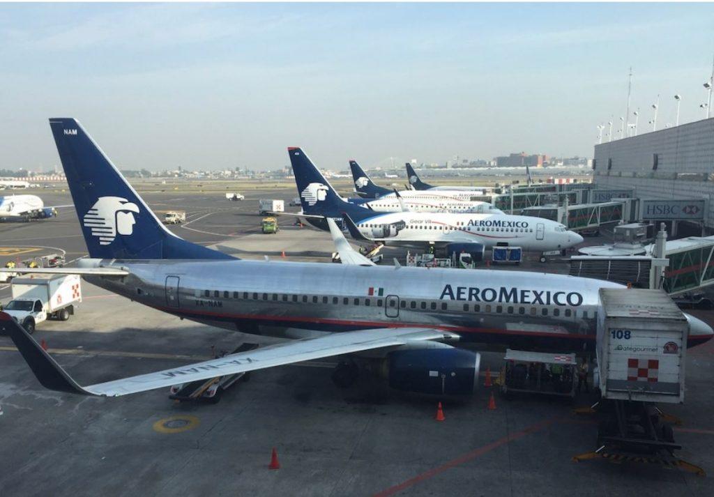 Aeromexico planes at hangar