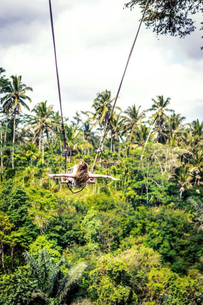 Bali-tourist-on-swing