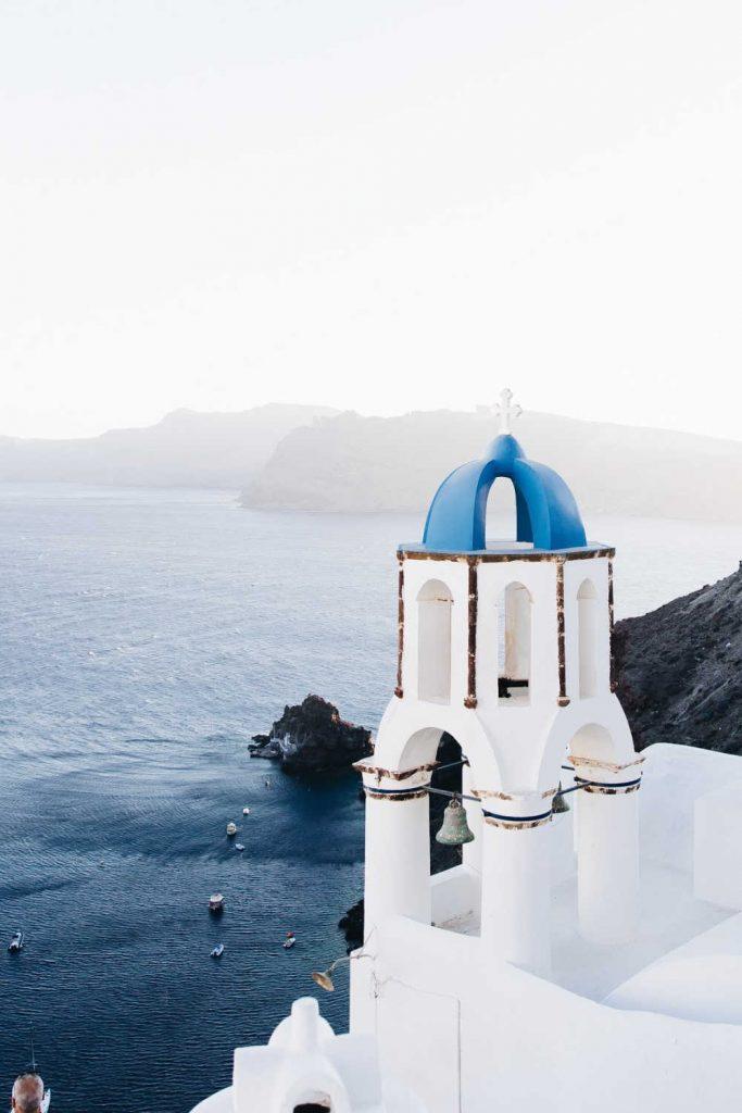 Overlooking ocean in greece