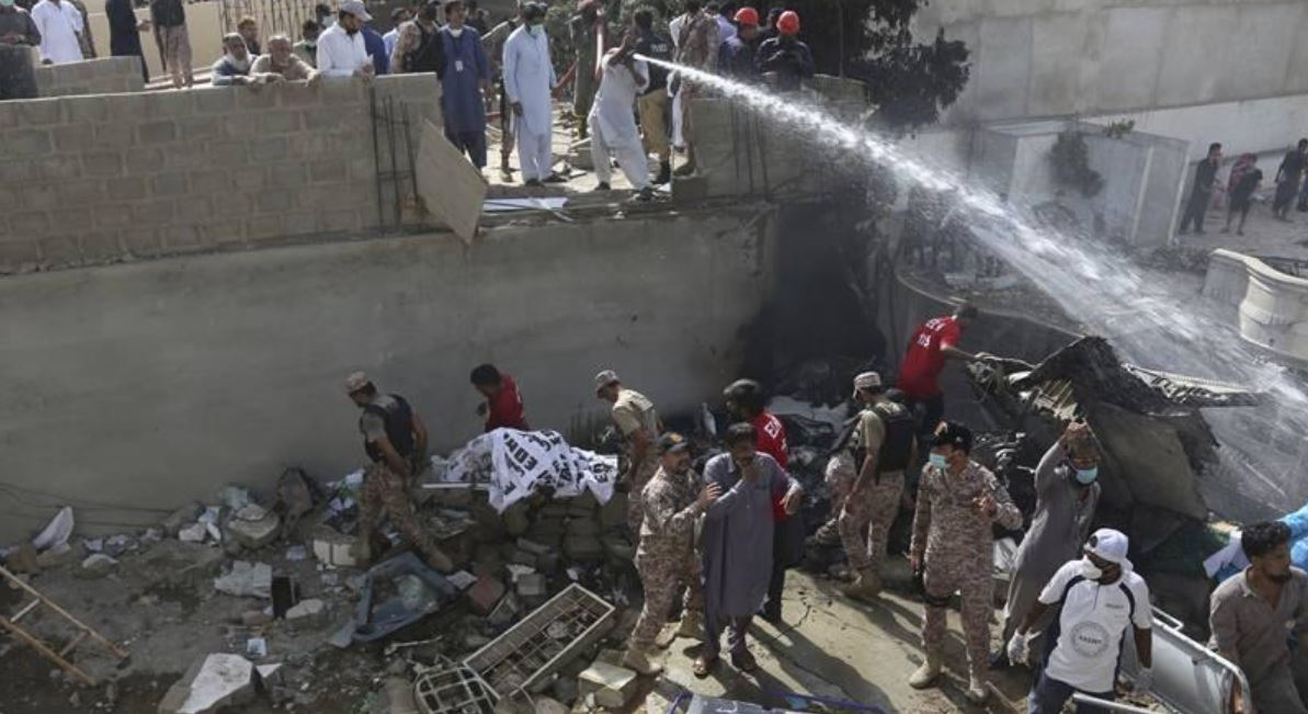 Pakistan Airplane Passenger Plane Crashes With 100 People On Board (2)