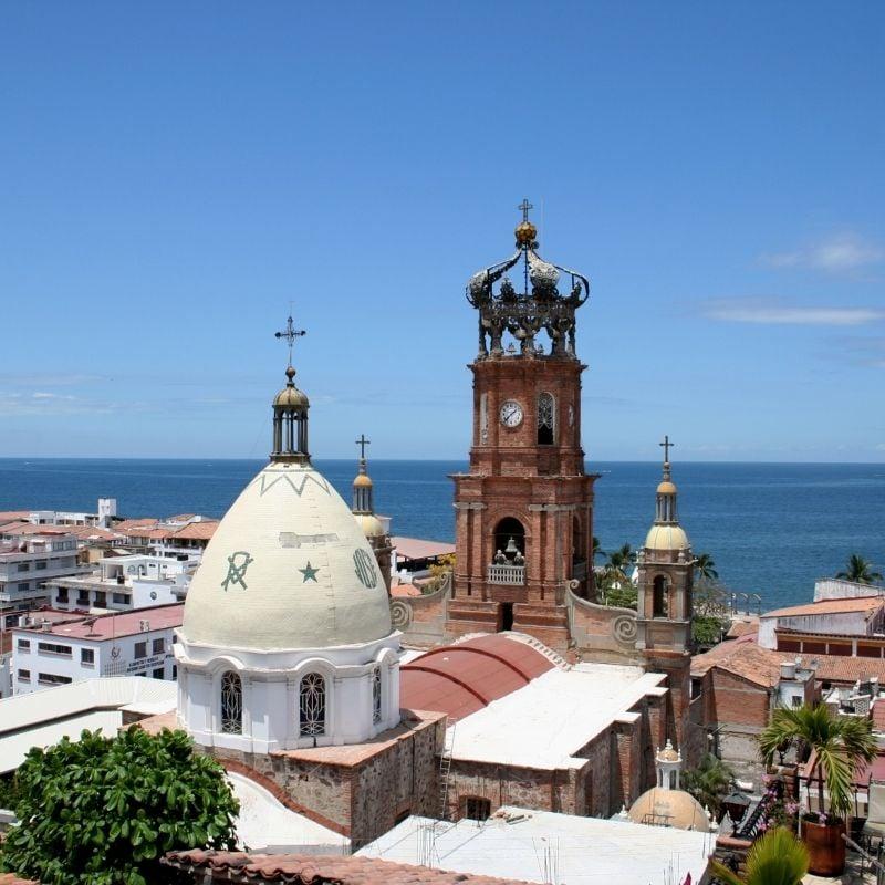 Puerto vallarta church and seaview