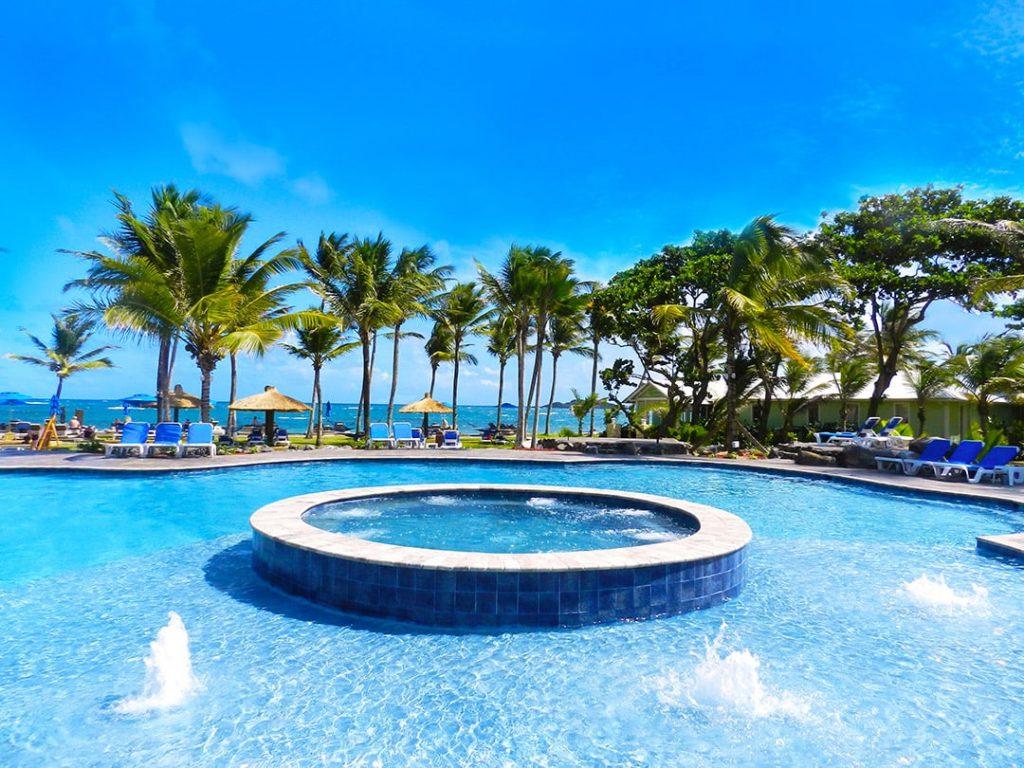 Saint Lucia hotel on ocean