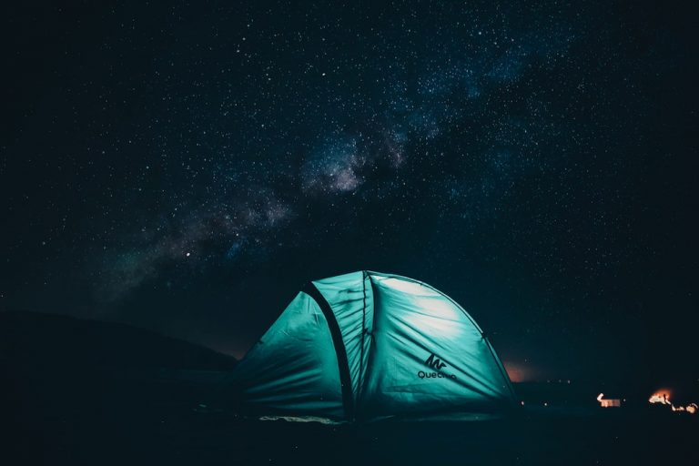 camp in your backyard to cure the travel bug while you are stuck at home