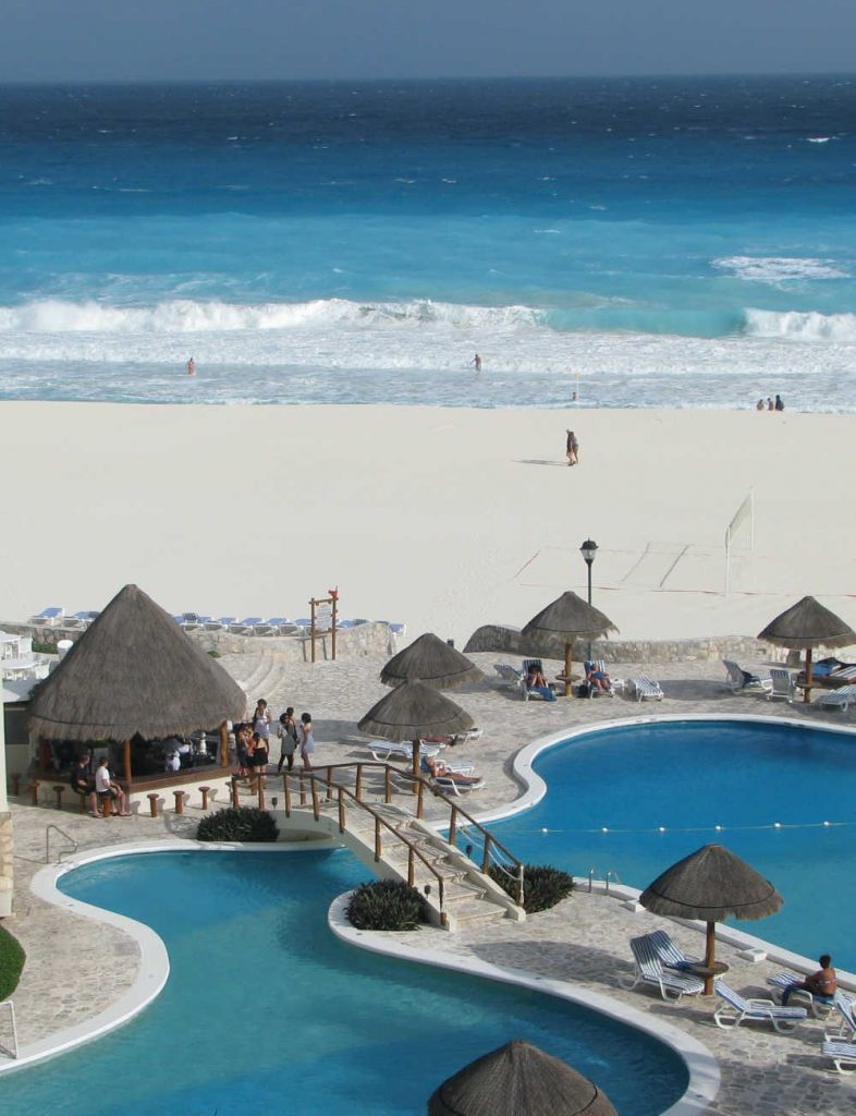 cancun pool on beach