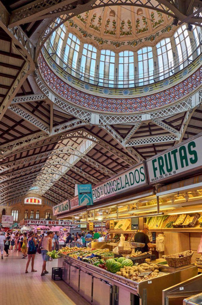 central market of valencia spain