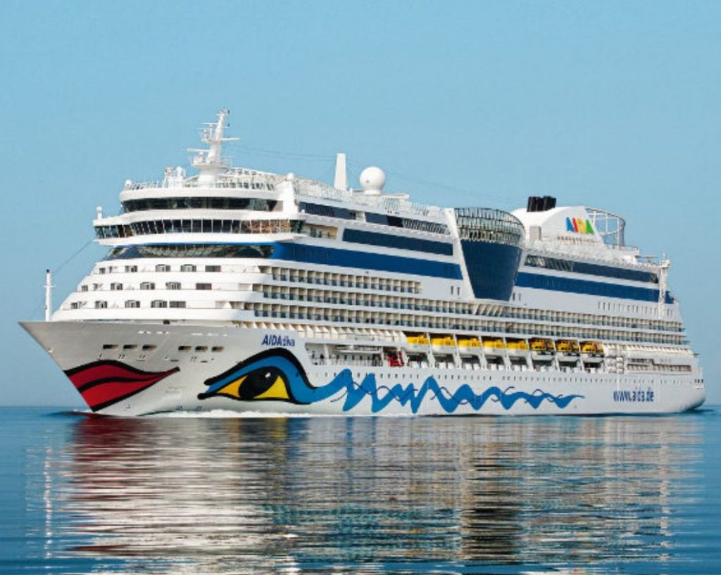 AIDA Cruise ship at sea